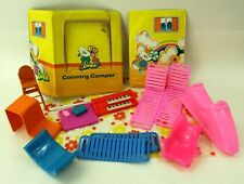 Vintage 1970 Barbie Country Camper Parts and Other Barbie Accessories Chairs