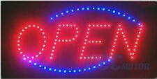 """Animated Led Neon Light Lighted Open Sign + Chain 19""""X10"""" Us Seller V Led01"""