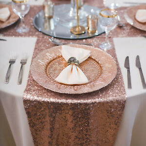 Sequin Table Runner Cover Cloth Mat Sparkly Shiny Bling Wedding Party Decor