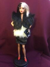 Cruella DeVile ~ Custom Barbie doll OOAK Handmade Collectors OUAT Villain Disney