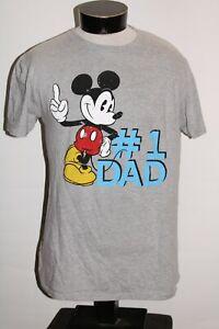 DISNEY Mens Large L Mickey #1 DAD T shirt Combine ship Discount
