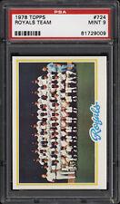 1978 Topps #724 Royals Team - PSA 9 - 81729009