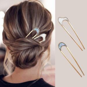 Women Hair Pin U Shaped Metal Hair Stick French Fashion Hairstyle Hair Clip