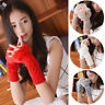 Womens Knitted Fingerless Wrist Gloves Mittens Faux Rabbit Fur Winter Arm Warmer