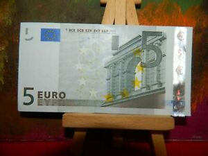 5 euro bank note, 2002, Germany, First euro series, Extra fine and crisp