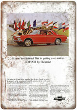 """Chevy Corvair Advertisment Man Cave Retro Look 10"""" x 7"""" Reproduction Metal Sign"""