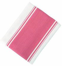 Dexam Peony Pink Single Symmetry Tea Towel Kitchen Drying Cloth Stripe Cotton