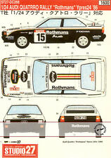STUDIO 27 1/24 AUDI QUATTRO RALLY ROTHMANS BOSCH BONO TRANS DECAL  for TAMIYA