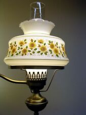 SALE Vintage Retro Milk Glass Lamp Shade Daisys Shabby Cottage Chic