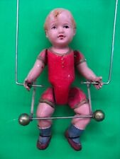 Pre~War Japan Wind Up MECHANICAL ACROBAT Celluloid Figure Circus Toy