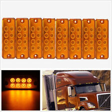 8 Pcs Waterproof Super Bright Car Off-Road Side Marker Lights Indicator Lamp 12V