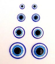 2 6 10pcs Turkish Blue Evil Cabochon Eyes Plastic Flatback Google Glue On Craft