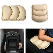 Car SUV Center Box Armrest Console Soft Pad Cushion Cover Durable Wear Beige PU