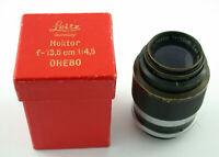 LEICA Leitz Hektor 4,5/135 135 F4,5 black short mount kurze Fassung OVP box /19