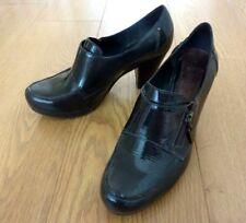 Clarks Damas Mocasín Verde oscuro Charol Plataforma Zapatos Talla Uk 7 EUR 41