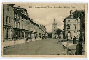 CPA 39 Jura Champagnole Grande-Rue et Château d'eau animé