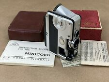 C.P. Goerz Minicord Subminiature Camera complete w/ original box & Manual Vienna