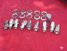 10,1/2 x 20 nhra open end mag wheel lug nuts,cragar with centered washers,rat,