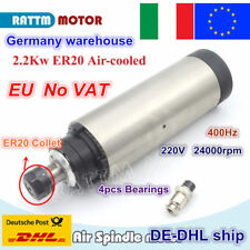 【IT】 2.2KW Air Cooled Spindle Motor ER20 24000rpm 80mm 4 bearings for CNC Router