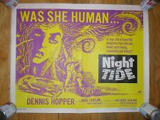 Night Tide ORIG 1960 HALF-SHEET POSTER Horror DENNIS HOPPER  AIP FILM