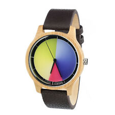 Rainbow Watch - Cool Wood Classic Unisex Armbanduhr Quarz