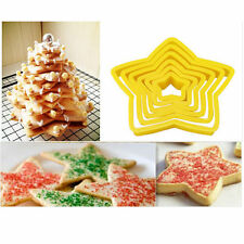 Yellow Fondant Cake Meal Stars Shape Cookie Cutters Mold Mould Decorating Tool