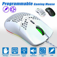 6400DPI RGB Backlit LED Light USB Wired Gaming Mice Mouse 6 Button For PC Laptop