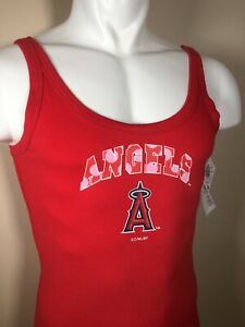 NEW MLB Los Angeles Angels Red Women's Tank Top Size LARGE NWT