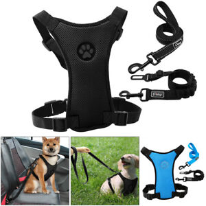 Dog Car Harness Safety Seatbelt Walking Leash Mesh for Small Large Dogs Travel