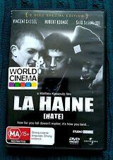Hate (La Haine) (DVD, 2-Disc Set) REGION:2+4- LIKE NEW- FREE POST IN AUSTRALIA
