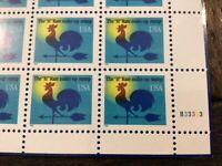 Stamps Scott 3258 Weathervane H rate make up stamp PB MNH
