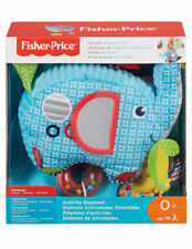 Fisher-Price Activity Elephant Fun Newborn Baby Toy Soft Cuddly Jingly Rattle