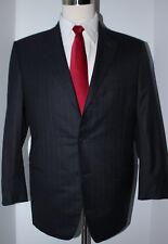 Giorgio Armani Black Label 3 Button Gray Striped Super 150s Wool Suit 42 S 36 27