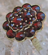 Antik♛Granat Ring in aus 585 Gold Ring mit Granate Granaten garnet stone antique
