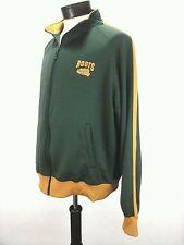 Roots 73 Atletics Men's Canada Full Zipper Track Jacket Green Gold XLARGE EUC