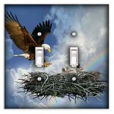 Eagle's Nest Decorative Double Toggle Light Switch Cover - Switch Plate