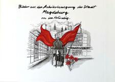 LEA GRUNDIG - 30 YEARS OF SED - MAGDEBURG * RARE EAST GERMAN ART PRINT 1976