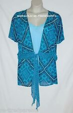 LANE BRYANT – TIE FRONT BLOUSE with SHELL - 2-PIECE SET – 26/28 (4X) – NEW $52