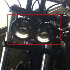 """4.65"""" LED Headlight Twin Dual Projector for Harley Dyna Fat Bob FXDF 08-16 White"""