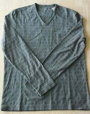 NWT JOHN VARVATOS  Long Sleeve V-neck Shirt Size M Color Tent Green  $118.00