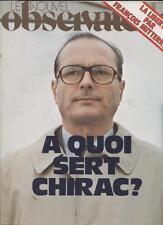 Le Nouvel Observateur   N°605   14 Au 20 Juin 1976: A quoi sert chirac La libert
