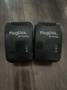 Lot of 2 PlugLink by Asoka 9650 Powerline Ethernet Adapter Model: PL9650-ETH