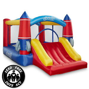Cloud 9 Rocket Bounce House with Slide and Blower Inflatable Bouncer with Bag