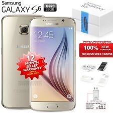 New Sealed Unlocked SAMSUNG Galaxy S6 SM-G920F Gold 4G LTE Android Mobile Phone