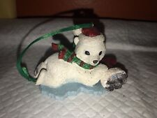 Danbury Mint Baby Animal Collection Polar Bear Christmas Ornament ~ Free Ship!