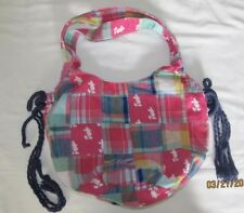 Walt Disney World Tote Bag Plaid Madras Pink Mickey Mouse Patchwork Patch