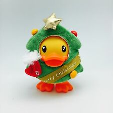 B.Duck Yellow Rubber Ducky Bank In Cute Christmas Tree Costume New