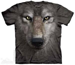 The Mountain 100% Cotton Kid's T-Shirt - Wolf Face NWT
