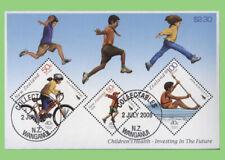 New Zealand 2008 Childrens Health mini sheet used