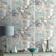 RUSTIC HEART WALLPAPER - NATURAL - ARTHOUSE 669600 - NEW